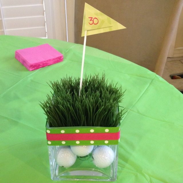 17 best images about golf themed party on pinterest golf for Golf centerpiece ideas