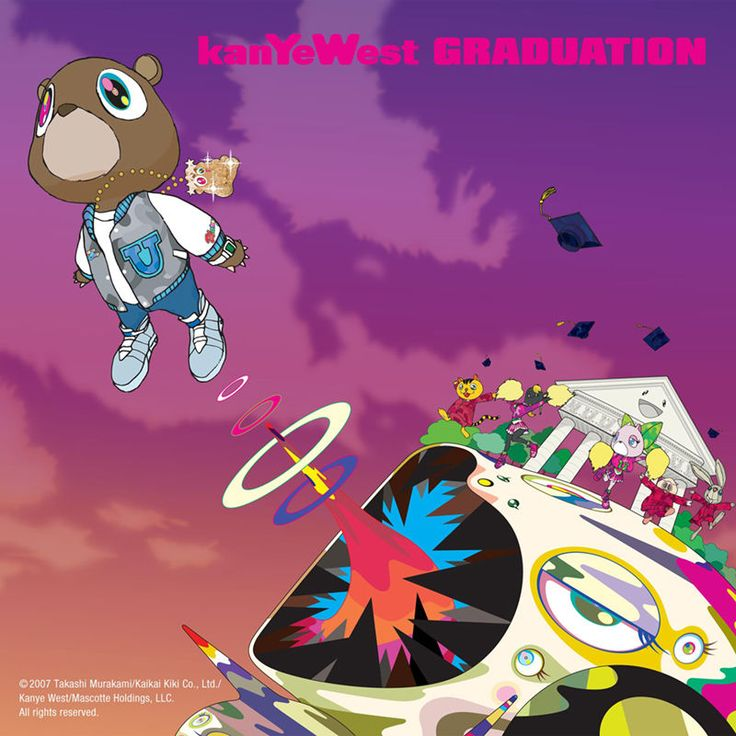 "Kanye West Graduation Album Art Poster 24""x24"" 18""x18"" Music Silk"
