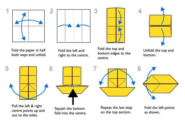 Traditional Origami Fish Instructions: Traditional Origami Fish Diagram - Page 1