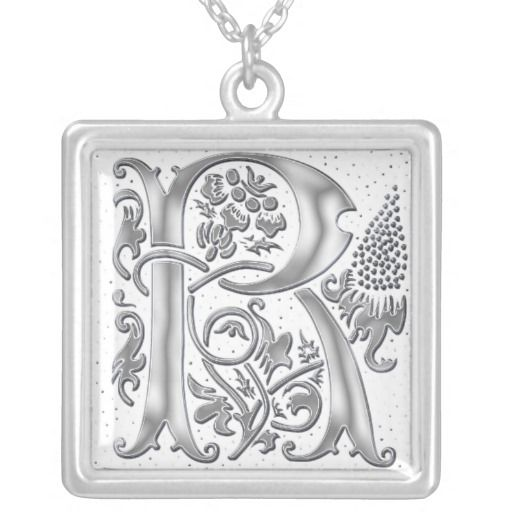 Classy Vintage Monogram R Necklace