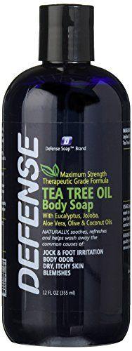 Defense Soap Body Wash Shower Gel 12 Oz - Natural Tea Tre...