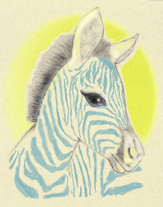 Blue Zebra by LittleLotusFlowers on Etsy