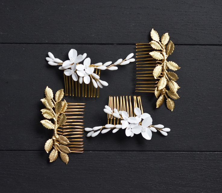 Modern Bridal Hair Comb  by #Orchideedesoie Made in France for #coolbride ,  #modernbride   Orchidée de Soie x Just a Perfect Day Lyon