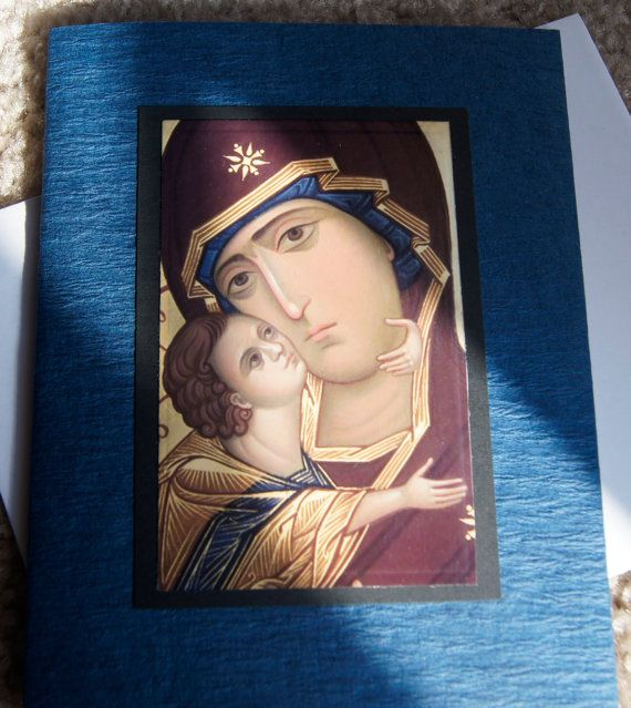 """A """"Get Well"""" or """"Prayers..."""" Orthodox Byzantine Icon Greeting Card by HandcraftedOrthodox Etsy shop, $3.50"""
