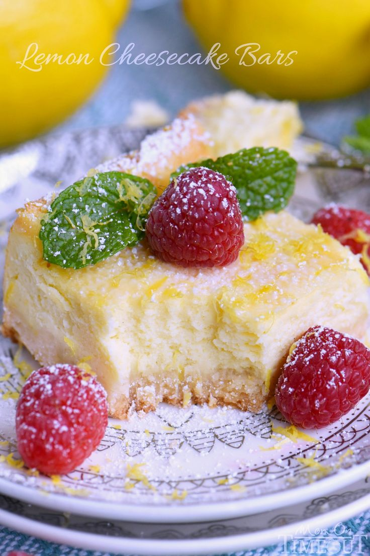 My Aunt Pam's Lemon Cheesecake Bars are made with lots of fresh lemon juice and zest so they're bursting with lemon flavor! Extra creamy and super easy!