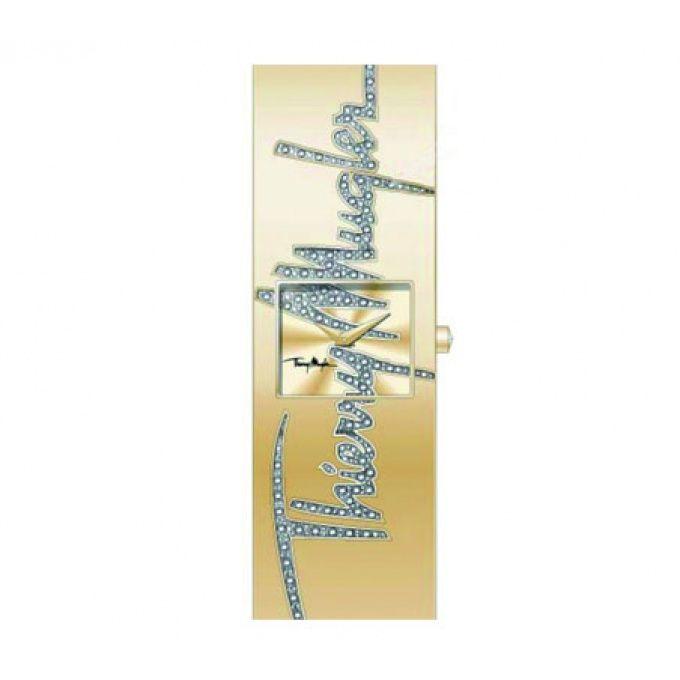 Montre Thierry Mugler Manchette 4714502 - Montre Acier Rectangulaire Or et Strass Femme  - marque : Thierry Mugler Montres THIERRY MUGLER, marque d'accessoires et de prêt-à-porter française, propose toute une gamme demontreshomme etmontres femme. Lesmontres THIERRY MUGLERallient fantaisie ... prix : 169.00 €  chez Bijourama #ThierryMuglerMontres #Bijourama