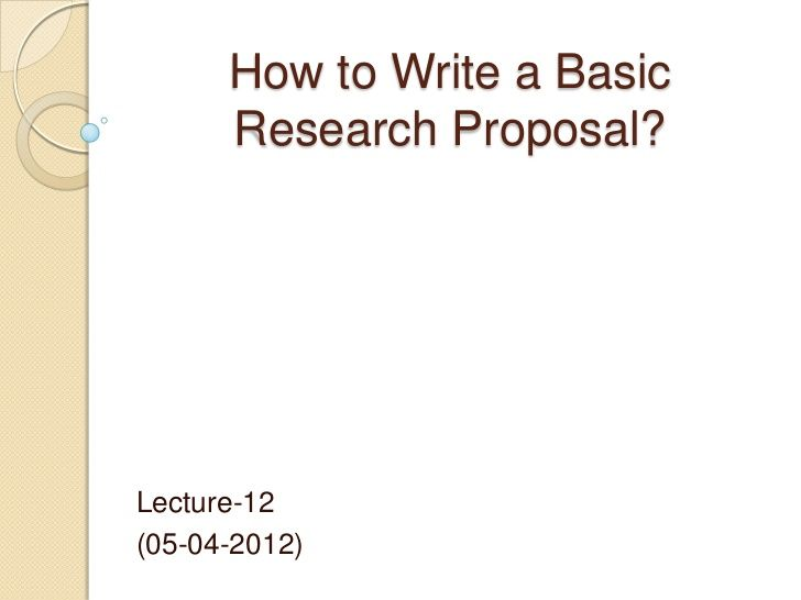 Writing research proposal for phd