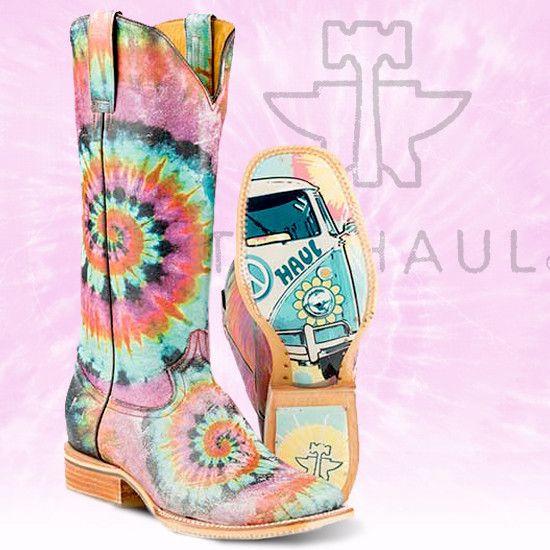 "Tin Haul Women's ""Groovy"" Square Toe Boot"
