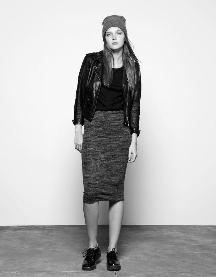 Bershka tube ankle skirt - Woman - Bershka Taiwan