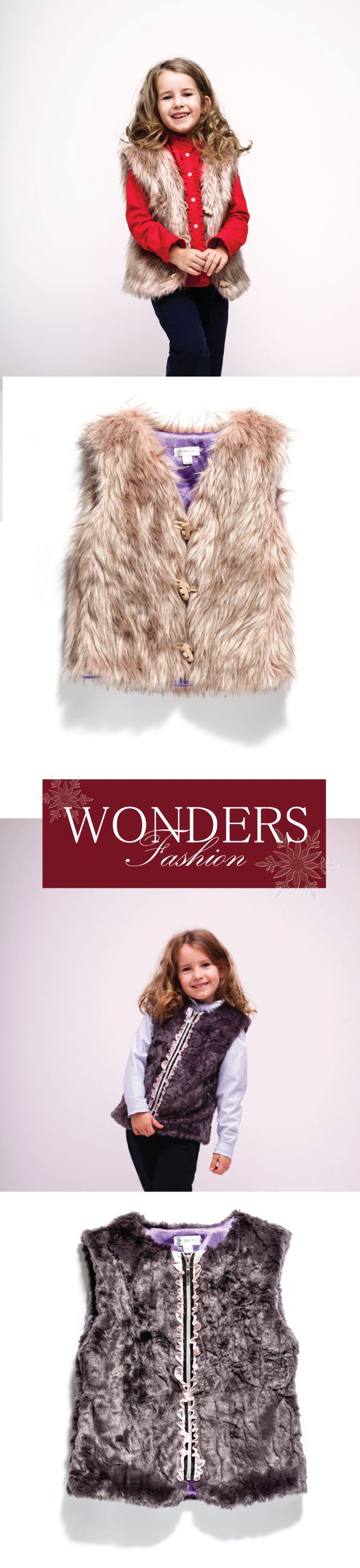 See our newest fake fur vests for GIRLS! Hurry up! There are last few sizes left to purchase.  Hey! Do you want me to make one of these for you? Feel free to contact me or leave a comment below and I'll get back to you asap :-)