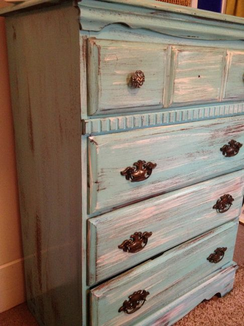 Distressing Old Furniture with Paint: DIY Tutorial   Trends with Benefits
