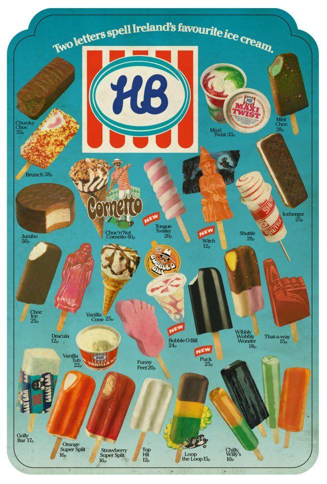 HB Ice-cream poster