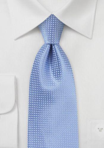 Cravate soie bleue imprimé géométrique