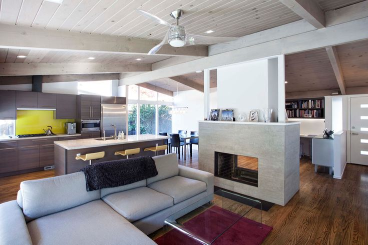 Artemis Ceiling Fan by Minka Aire: Modern, Interior, Ideas, Dream, Palo Alto, 1960S, Brown, House, Klopf Architecture