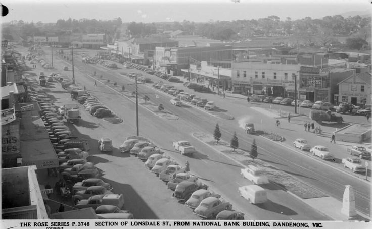 Lonsdale St Dandenong from National Bank Building mid to late 50s