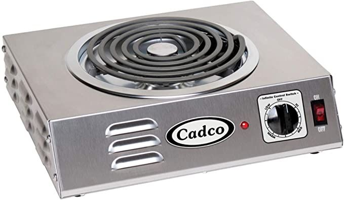 Amazon Com Cadco Csr 3t Countertop Hi Power Single 120 Volt Hot Plate Electric Countertop Burners Kitchen Dining In 2020 Hot Plate Electric Stove Stove