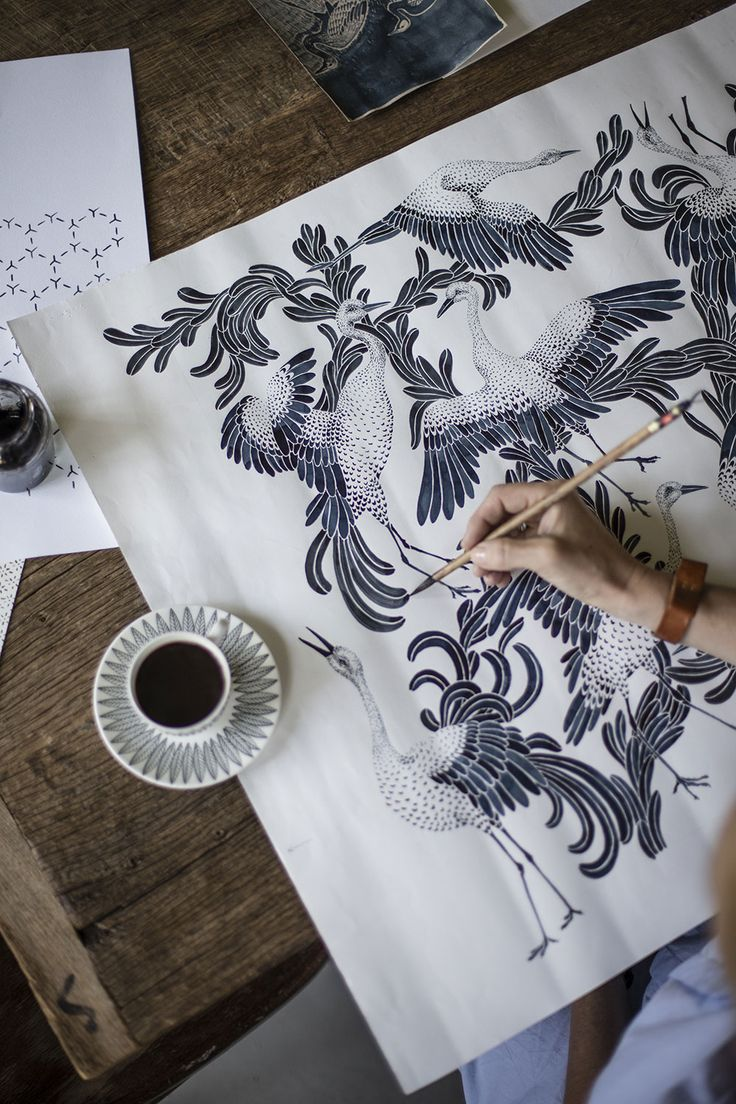 Emma von Brömssen Pattern designer and artist, textile, fabric and wallpaper. Gothenburg, Sweden// Winner of the ELLE DECORATION SWEDISH DESIGN AWARDS 2016. #stockholmfurniturefair #sthlmfurnfair #showingscandinavia