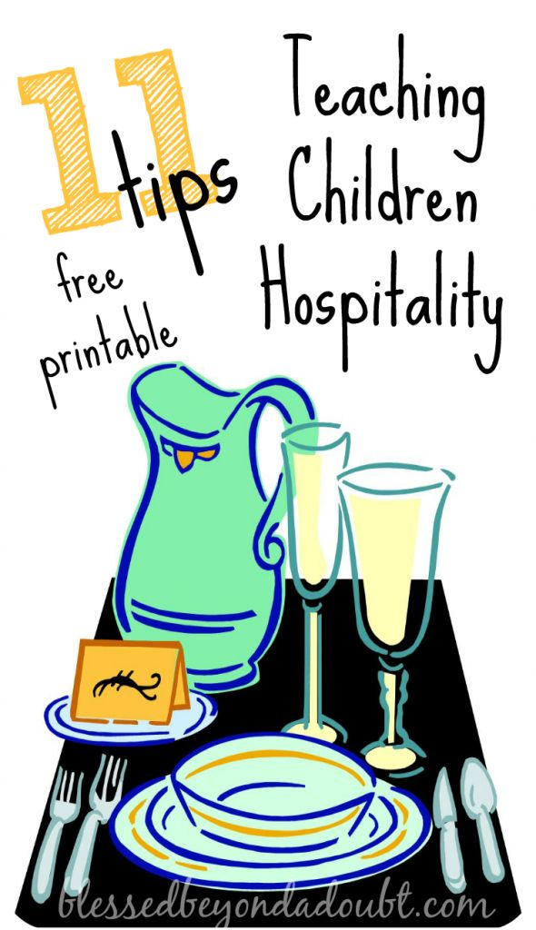 How to teach our kids hospitality with this FREE printable!