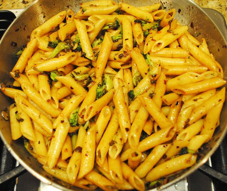 SPICY Penne with Broccoli and Garlic...Step by Step Photos...Click for full recipe...