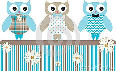 Cute owl vector animal pack with patterns.