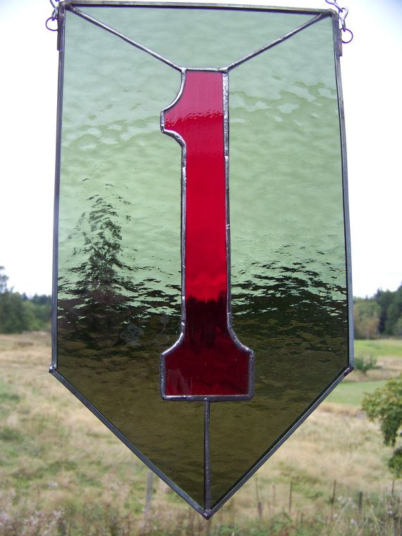 The Big Red One1st Infantry Division window by ArbutusGlass, $50.00