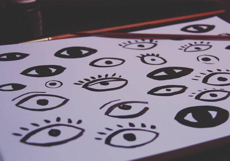Work in progress #eye #illustration #ink