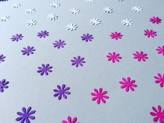 Flower Paper Punch White/Pink/Purple Paper Die Cut by Gabiworks