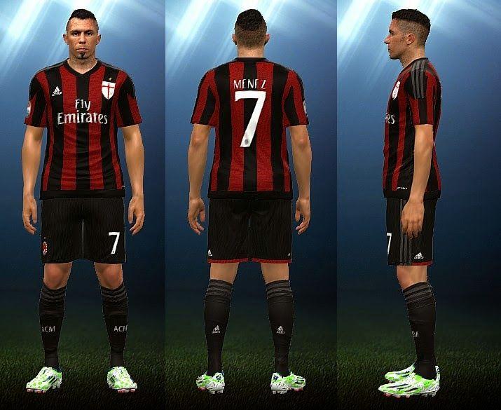 PES 2015 PC • AC Milan 2015/2016 Home kit | Pes 2015 pc