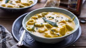 Slow-Cooker Cheesy Butternut Squash and Tortellini Soup