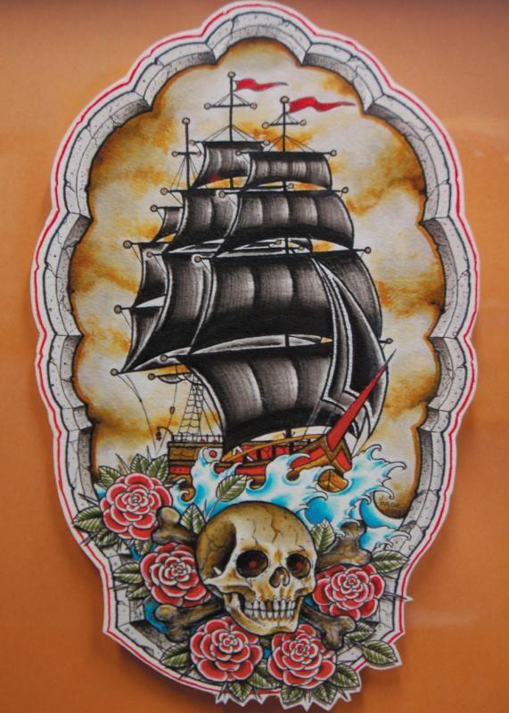 traditional ship tattoo | ship Tattoo Picture | Last Sparrow Tattoo