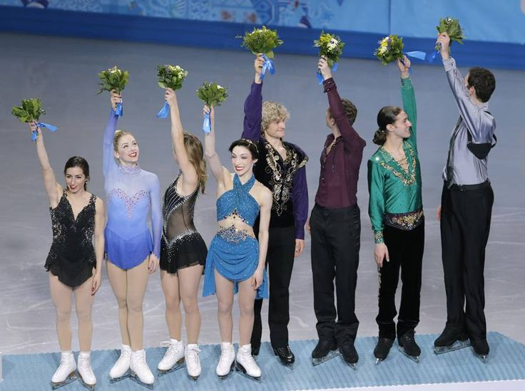 It's bronze for #TeamUSA in the team skating event at the XXII Winter Games in Sochi, Russia.