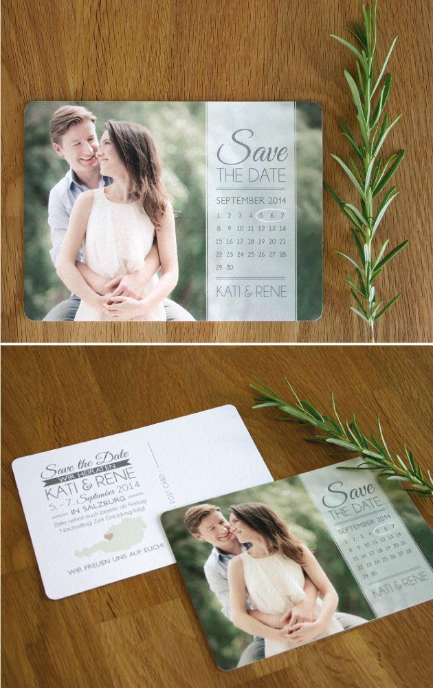 Save the Date Karte Rosmarin