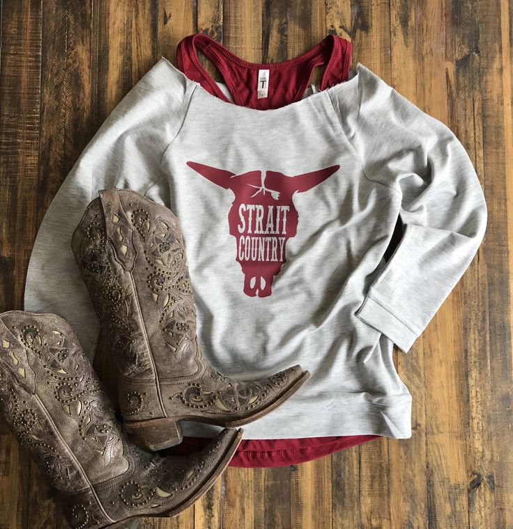 Strait Country 3/4 Sleeve Raglan Sweatshirt, Women's Country Lifestyle Music Festival T-Shirt Southern Clothing, Country Sayings Shirt by BackwoodsGypsyCo on Etsy