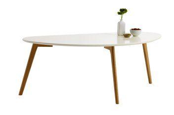 Sofabord LEJRE hvit/eik | JYSK