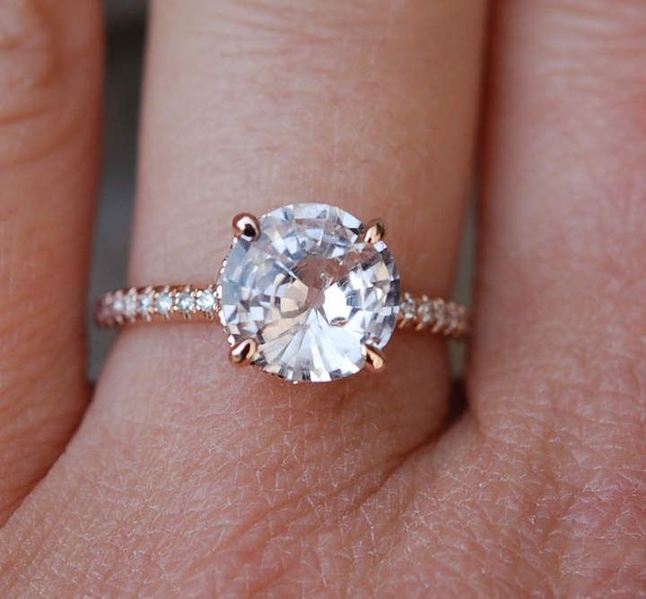 Best 25 Peach diamond ring ideas on Pinterest