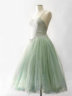 Long green Ballet Dress.
