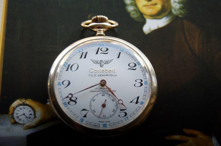 Cortebert Turkish Railway Pocket Watch Company T.C.D.D