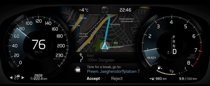 volvo Full TFT Cluster XC 90 map