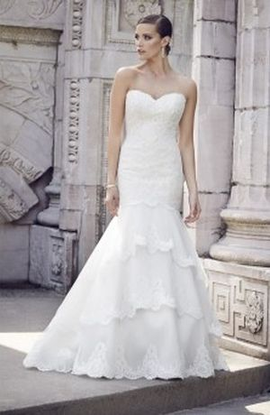 Sweetheart Mermaid Wedding Dress  with Dropped Waist in Alencon Lace. Bridal Gown Style Number:33046616