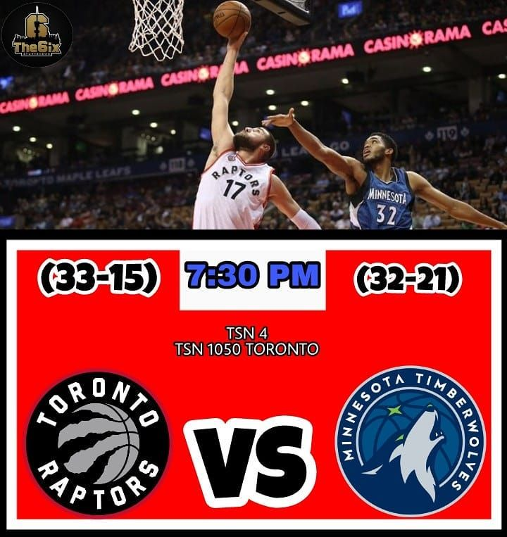 The Raptors will face the Minesstota Timberwolves tonight at 7:30 PM and look to start a win streak. The Raptors look to seek revenge from the previous game against the Timberwolves. Tune in on TSN 4 or radio TSN 1050 Toronto. . . . . #warriors #nba #basketball #nyknicks #knicks #raptors #torontoraptors #celtics #bostonceltics #sixers #philadelphiasixers #nets #lbj #playoff #heatnation #letsgoheat #ilovethisgame #slam #court #myteam #rockets #ballers #buckets #baloncesto #streetball #ballup…