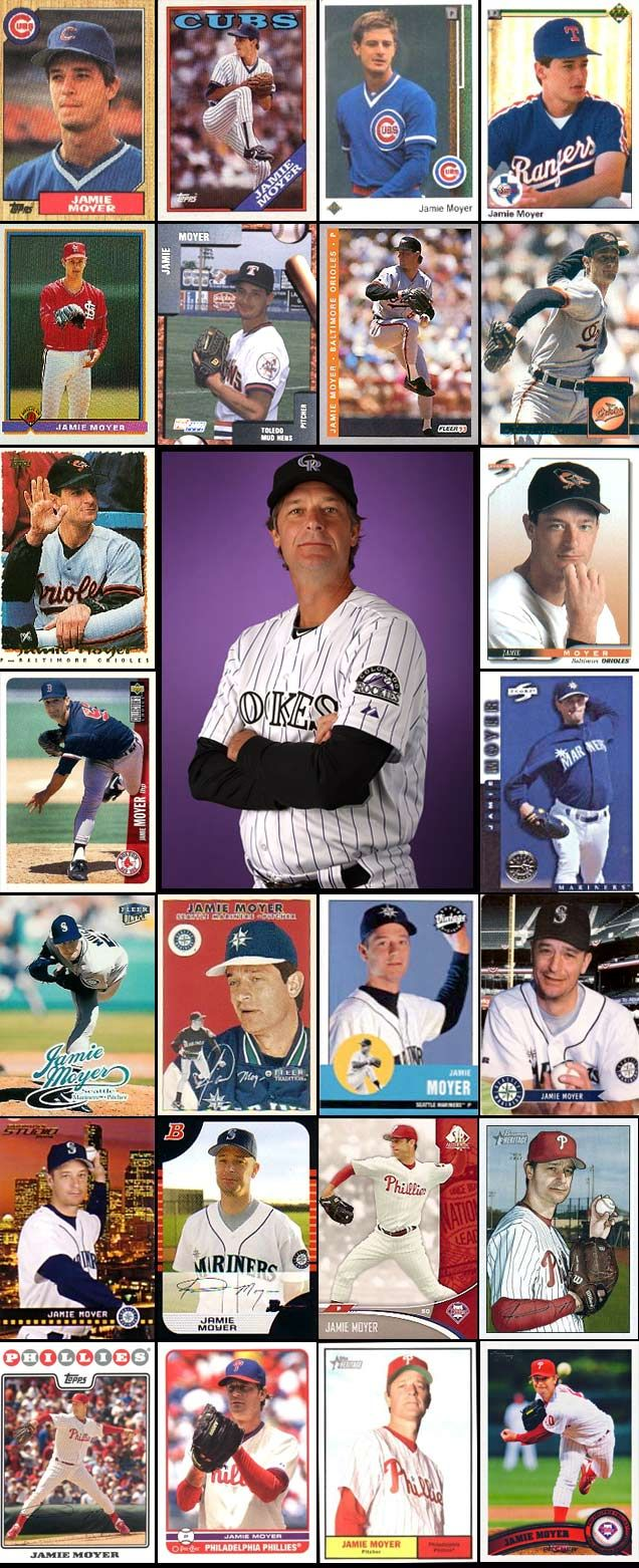 Jamie Moyer through the years, baseball-card style
