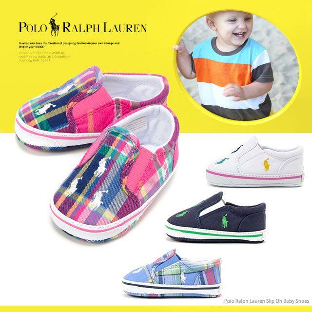 POLO RALPH LAUREN ポロ ラルフローレン ベビー シューズ/スリッポン 25945L 25946L 25217L 25340L ※室内履き用になります。 7cm~10cm/ファーストシューズ、プレゼント、ギフトボックス付/ベビー/出産祝/男の子/女の子/靴/スニーカー/贈答品