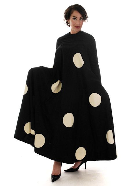 The Cats Pajamas - Vintage Mod Trapeze Dress Vuokko Nurmesniemi Black /White Polka Dots  1970s SZ 36, $1,395.00 (http://www.thebestvintageclothing.com/vintage-mod-trapeze-dress-vuokko-nurmesniemi-black-white-polka-dots-1970s-sz-36/)