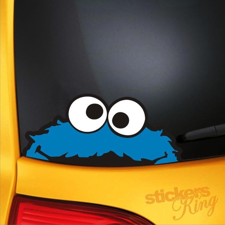 Cookie monster funny car van bumper window vinyl decal stickers jdm vw euro