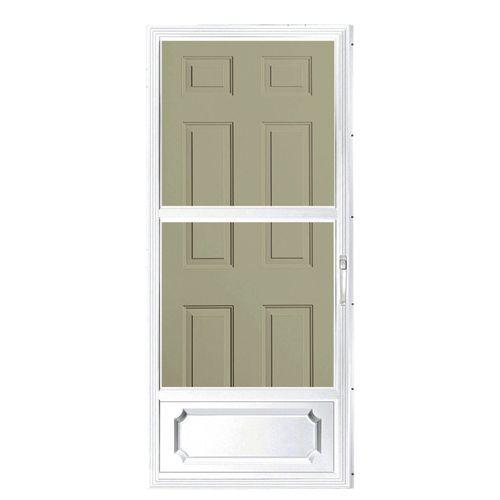 Aluminart Storm Door 32 X 80 White 2na62whn Rona Aluminum Storm Doors