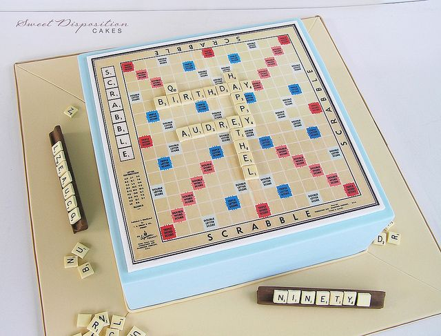 Scrabble cake | Flickr - Photo Sharing!