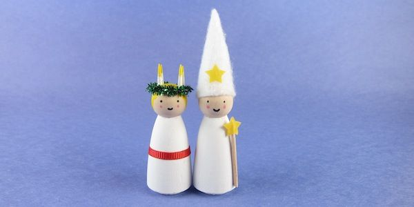 Santa Lucia and Star Boy Ornaments