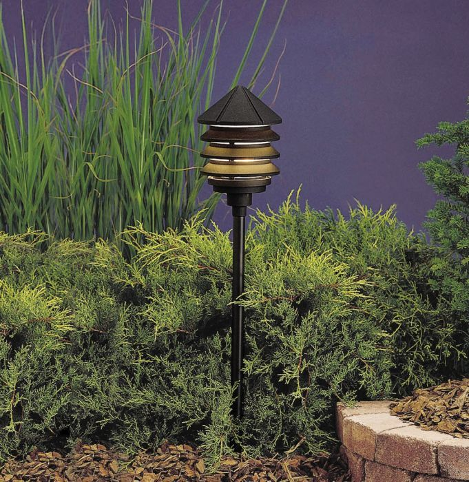 Kichler Six Groove 6 Outdoor Lighting Landscape Path Lights Pathway Lighting