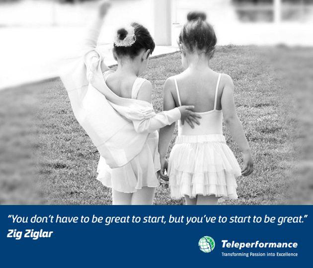"""""""Nu trebuie sa fii puternic ca sa incepi, ci trebuie sa incepi ca sa poti sa devii puternic."""" Zig Ziglar"""