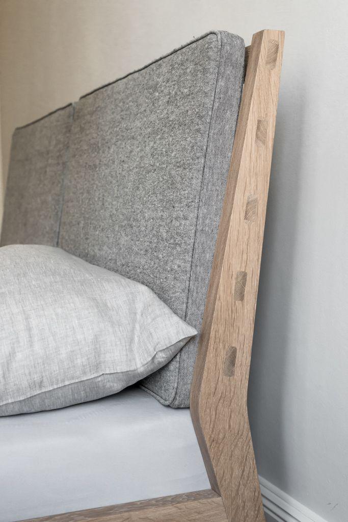 Komplet: łóżko i stoliki nocne - MEBLE AUTORSKIE - LOFT SZCZECIN